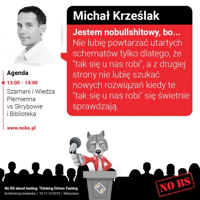 Michał Krześlak - prelegent konferencji testerskiej